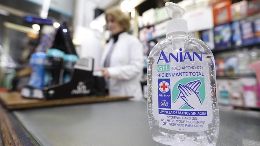 Alcohol gel sanitario antiséptico para manos desinfectante