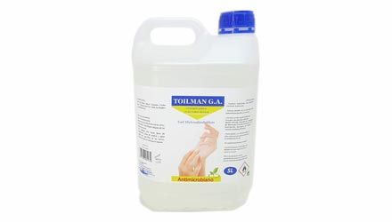 Gel hidroalcohólico alcohol 5 litros industrial